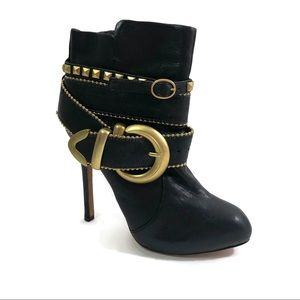 Dolce Vita Black Leather size 6.5 Ankle Boots
